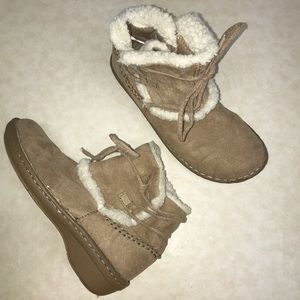 Predictions tan suede booties